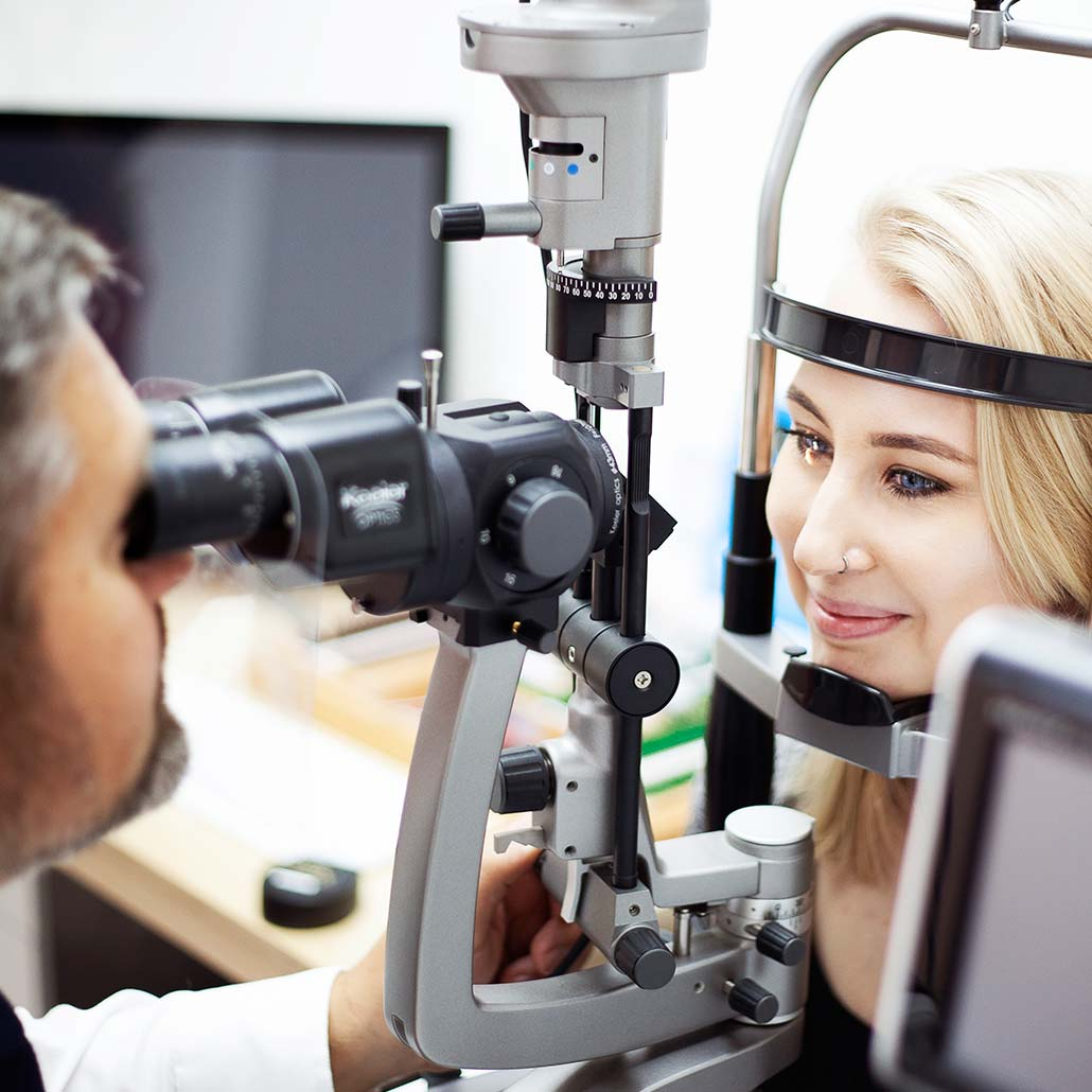 Eye test using the best optomotery equipment from North Opticians