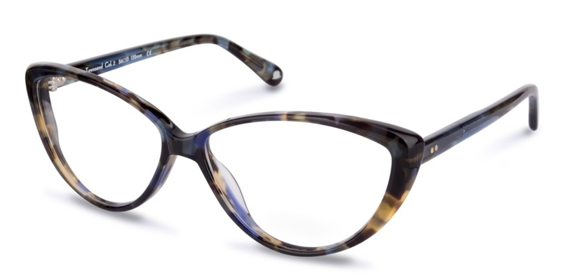 Walter and Herbert brand cat eye glasses, Townsend, blue tortoiseshell