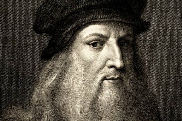 A very stern looking Da Vinci.