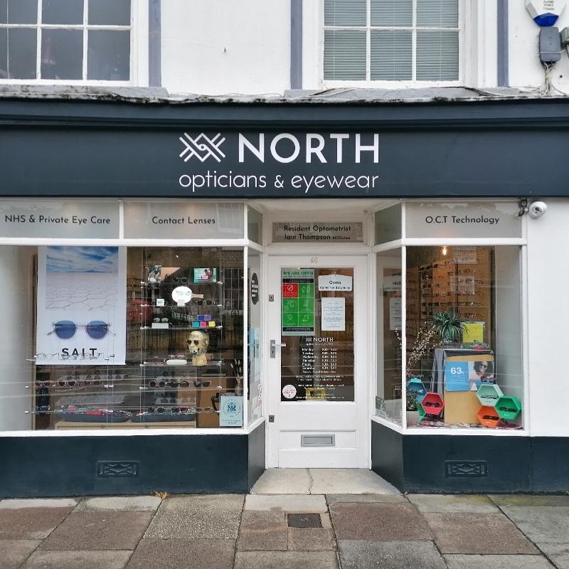 North Opticians shop frontage
